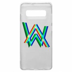 Чехол для Samsung S10+ Alan Walker multicolored logo