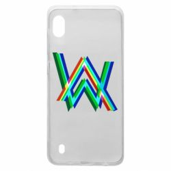 Чехол для Samsung A10 Alan Walker multicolored logo