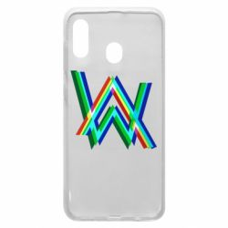 Чехол для Samsung A20 Alan Walker multicolored logo