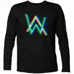 Футболка з довгим рукавом Alan Walker multicolored logo