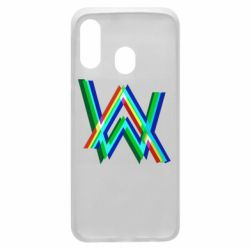 Чехол для Samsung A40 Alan Walker multicolored logo