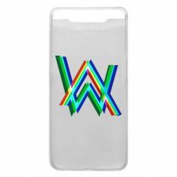 Чехол для Samsung A80 Alan Walker multicolored logo