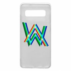 Чехол для Samsung S10 Alan Walker multicolored logo