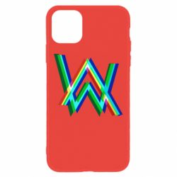 Чехол для iPhone 11 Alan Walker multicolored logo