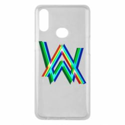 Чехол для Samsung A10s Alan Walker multicolored logo