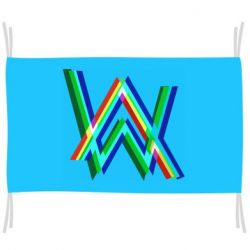 Флаг Alan Walker multicolored logo
