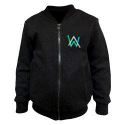 Детский бомбер Alan Walker multicolored logo