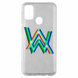 Чехол для Samsung M30s Alan Walker multicolored logo