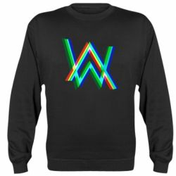 Реглан (свитшот) Alan Walker multicolored logo