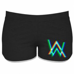 Женские шорты Alan Walker multicolored logo