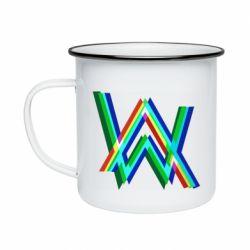 Кружка емальована Alan Walker multicolored logo