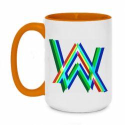 Кружка двоколірна 420ml Alan Walker multicolored logo