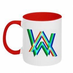 Кружка двоколірна 320ml Alan Walker multicolored logo