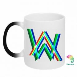 Кружка-хамелеон Alan Walker multicolored logo