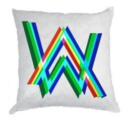Подушка Alan Walker multicolored logo