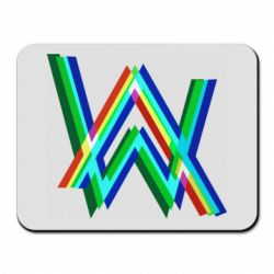 Коврик для мыши Alan Walker multicolored logo