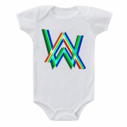 Детский бодик Alan Walker multicolored logo