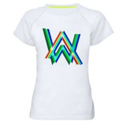 Жіноча спортивна футболка Alan Walker multicolored logo