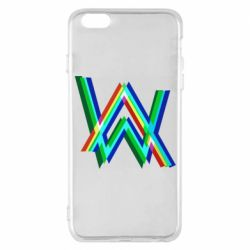 Чехол для iPhone 6 Plus/6S Plus Alan Walker multicolored logo