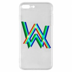 Чехол для iPhone 7 Plus Alan Walker multicolored logo