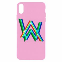 Чехол для iPhone X/Xs Alan Walker multicolored logo