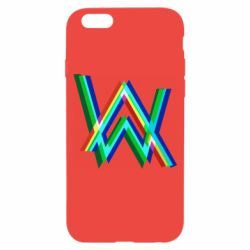 Чехол для iPhone 6/6S Alan Walker multicolored logo