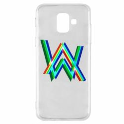 Чехол для Samsung A6 2018 Alan Walker multicolored logo
