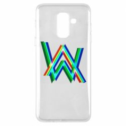 Чехол для Samsung A6+ 2018 Alan Walker multicolored logo
