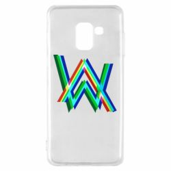 Чехол для Samsung A8 2018 Alan Walker multicolored logo
