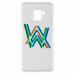 Чехол для Samsung A8+ 2018 Alan Walker multicolored logo