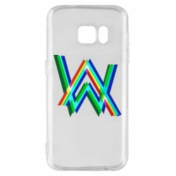 Чехол для Samsung S7 Alan Walker multicolored logo