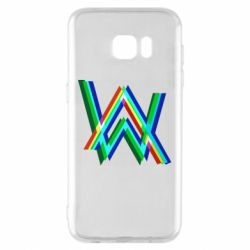Чехол для Samsung S7 EDGE Alan Walker multicolored logo