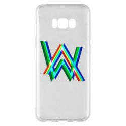 Чехол для Samsung S8+ Alan Walker multicolored logo