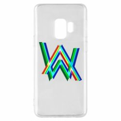 Чехол для Samsung S9 Alan Walker multicolored logo