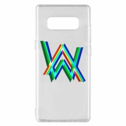 Чехол для Samsung Note 8 Alan Walker multicolored logo
