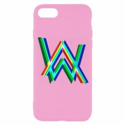 Чехол для iPhone 8 Alan Walker multicolored logo