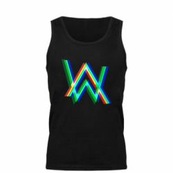 Мужская майка Alan Walker multicolored logo