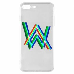 Чехол для iPhone 8 Plus Alan Walker multicolored logo