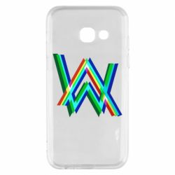 Чехол для Samsung A3 2017 Alan Walker multicolored logo