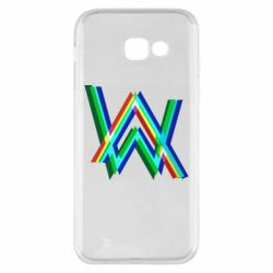Чехол для Samsung A5 2017 Alan Walker multicolored logo