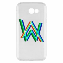 Чехол для Samsung A7 2017 Alan Walker multicolored logo