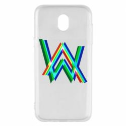 Чехол для Samsung J5 2017 Alan Walker multicolored logo
