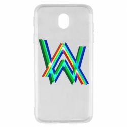 Чехол для Samsung J7 2017 Alan Walker multicolored logo