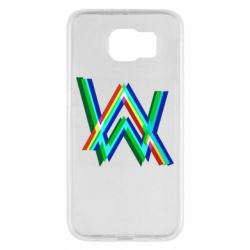 Чехол для Samsung S6 Alan Walker multicolored logo