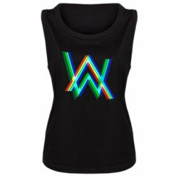 Женская майка Alan Walker multicolored logo
