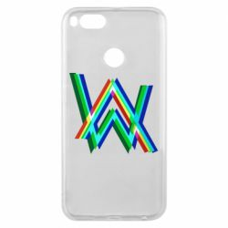 Чехол для Xiaomi Mi A1 Alan Walker multicolored logo