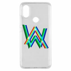 Чехол для Xiaomi Mi A2 Alan Walker multicolored logo