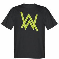 Мужская футболка Alan Walker neon logo
