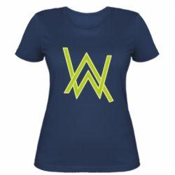 Женская футболка Alan Walker neon logo