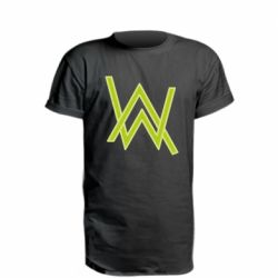 Удлиненная футболка Alan Walker neon logo